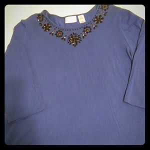 NWOT Alfred Dunner Blingy Top